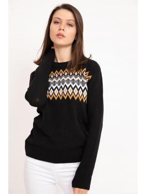 Women's Patterned Tricot Sweater