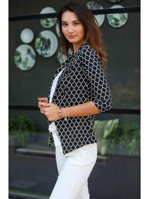 Women's Pocketed Patterned Jacket