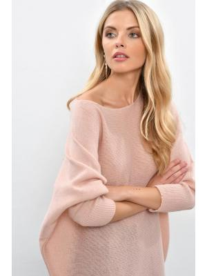 Women's Batwing Sleeves Shabby Pink Tricot Sweater