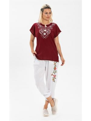 Women's Claret Red Blouse