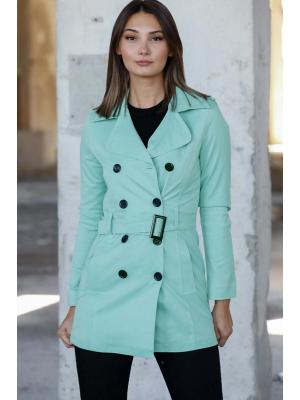 Women's Belted Mint Green Trenchcoat